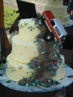 Perfect redneck cake