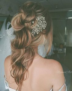 Ulyana Aster Long Bridal Hairstyles for Wedding_09 ❤ See More: http://www.deerpearlflowers.com/long-wedding-hairstyleswe-absolutely-adore/