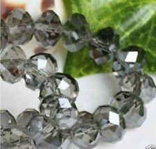 6mm 100pcs DIY Cristal Perles Rondelle Czech Collier bijoux Black