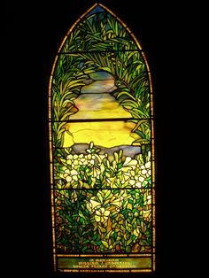 Underhill Memorial - Tiffany Glass Decorating Company, c. Stained Glass Rose, Stained Glass Lamps, Stained Glass Designs, Leaded Glass, Stained Glass Windows, Mosaic Glass, Fused Glass, Tiffany Glass, Tiffany Stained Glass