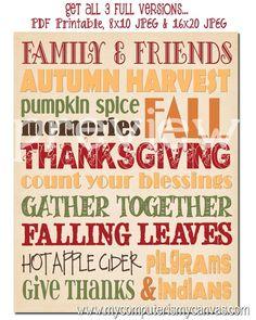 Thanksgiving Subway Art - so cute!!!
