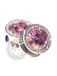 Pink Super Bling Threaded Steel Plugs   Plug Your Holes - Your Lifestyle, Since 2006.