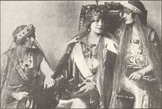 l-r Queen Marie of Yugoslavia, Qeen Marie of Romania, Queen Elizabeth of Greece  1926