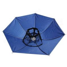 d89189f8736 Windproof Sun Rain Double Umbrella Hat Fishing Outdoor Shade Camping  Headwear Sale - Banggood.com
