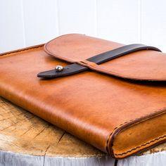 Genuine leather satchel.