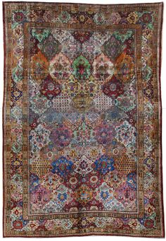 """Style#: 22436        Name: Faraghan        Size: 6' 06"""" x 9' 08""""        Region: W Persia"""