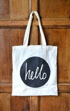 hello tote bag by Amy Wanford (Aimes), via Flickr