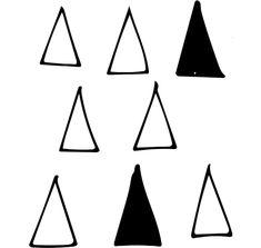 Projekt bez tytułu —- 50 × 50 cm Pattern Design, Cool Designs, Triangle, Canvas, Projects, Tela, Canvases, Burlap
