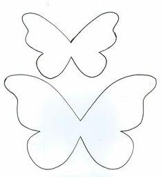 Cartamodello farfalla da stampare fai da te pinterest for Cartamodello papillon