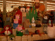 Story Book Pumpkins, YES!! THESE ARE ALL MADE FROM MICHAEL'S FAUX PUMPKINS    store: Mission Valley, California