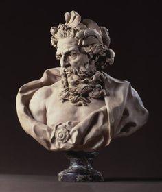 Busto de Neptuno //1725-1727 //Terracota sobre zócalo de mármol//Los Angeles County Museum of Art -Lambert-Sigisbert Adam