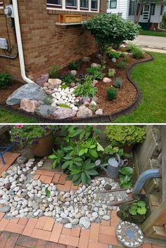 44 magical side yard and backyard gravel garden design ideas 44 - Outdoor Diy Landscaping With Rocks, Outdoor Landscaping, Front Yard Landscaping, Backyard Landscaping, Outdoor Gardens, Landscaping Ideas, Inexpensive Landscaping, Landscaping Blocks, Landscaping Software