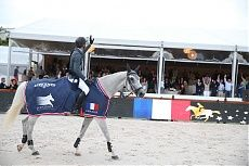 Paris 2014 Gallery - LONGINES GLOBAL CHAMPIONS TOUR - Grand Prix winner Kevin Staut and Silvana