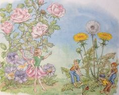 Vintage Children's Book Page, Molly Brett Illustration, Fairy Picture, Fairies…