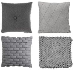 I love cushions with texture and pattern to them. These simple grey cushions are a great example of cushions you just want to touch.  Add some coloured cushions to the mix and these would look amazing.