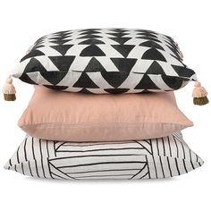 Citta Design Cotton Velvet Blush Cushion ($25) ❤ liked on Polyvore featuring home, home decor, throw pillows, velvet accent pillows, cotton throw pillows and velvet throw pillows