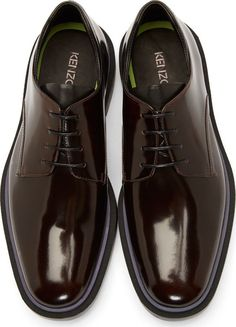 Kenzo Brown Leather Derbys
