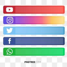 Social media button vector PNG and Vector Social Media Buttons, Social Media Images, Social Media Banner, Social Media Logos, Web Banner Design, Facebook And Instagram Logo, Network Icon, Youtube Banners, Social Icons