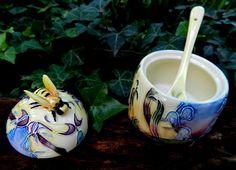 *Amorosísima Mielera en Porcelana Inglesa Old Tupton Ware*Hecha a Mano* *Foto 2*