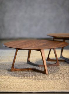 solid walnut circular table - Google Search