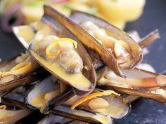 Couteaux sauce à l'orange Clams, Sauce, Shrimp, Seafood, Food And Drink, Pork, Orange, Fish, Exotic