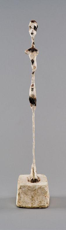 Femme debout, vers 1961 plâtre peint 46 x 7,6 x 11,2 cm Collection Fondation Giacometti, Paris, inv. 1994-0307 (AGD 379) © Succession Alberto Giacometti (Fondation Alberto et Annette Giacometti, Paris + ADAGP, Paris) 2013