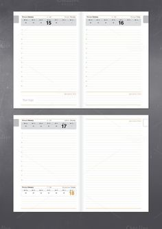 Daily Planner Printable Stationery Templates  Stationery