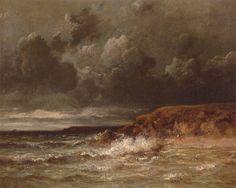 Marine Landscape (The Cape and Dunes of Saint-Quentin) by Jules Dupré, 1870.