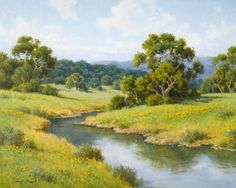 (resembles Grandpa's creek in the pasture)David Chapple (b. 1947) After the Rains