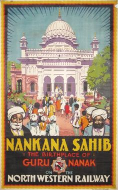 Nankana Sahib the birthplace of Guru Nanak India, Pakistan poster by Acott A R