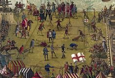 Tudor Football! Football matches were more like American Football matches - but without the padding. Games in Tudor times would involve dozens of players and last for hours