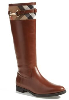 Burberry 'Dougal' Leather Boot (Women)