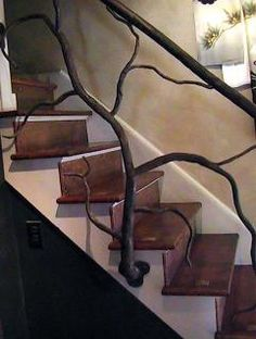Artistic iron Stair Railing - I love this!  I love the natural look of it......