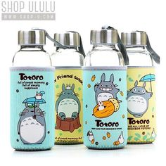 ✦ Pinterest: @Lollipopornstar ✦ Totoro botellas (^○^)