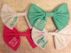 Bride bow bride bows moh gift bridesmaid gift bridal shower gift sweating for the wedding bow on Etsy, $12.00
