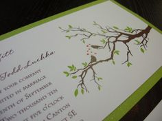 Two Love Birds  Wedding Invitation with two by paperpersuasions, $3.73