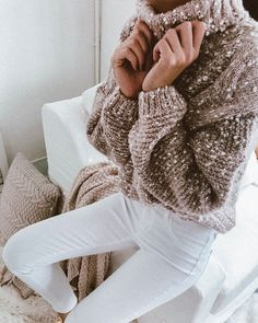 Snowy  Knitted Confetti Braided Turtleneck Sweater (4 Colors). 16 Cute  Sweaters for Women - Fashiotopia. Skye Constantino · Winter   fall outfits 3907457f4