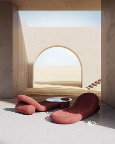 Interior Architecture, Interior And Exterior, 3d Interior Design, Tadelakt, Retro Futuristic, Floor Chair, Living Room Designs, Design Trends, Furniture Design