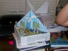 This is a cool 4 dimensional triorama.  could be used for a science project or a book report