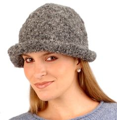 The Boucle Alpaca Hat from the Crystal Lake Alpaca Boutique - a beautiful winter accessory!!