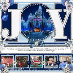 Great Disney Christmas layout!but would be good for just Xmas pica too