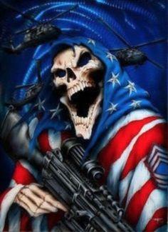 The Warrior Skull Grim Reaper Art, Don't Fear The Reaper, Death Reaper, Skull Pictures, Cool Pictures, Wild Pictures, Totenkopf Tattoos, Skull Wallpaper, Eagle Wallpaper