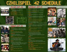 Czhilispiel 42 Full Schedule