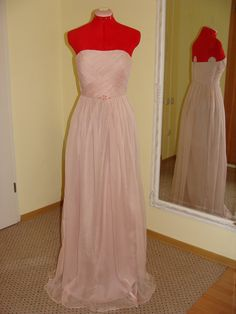 Pale pink wedding dress with crystals by princessmemaria on Etsy, $980.00