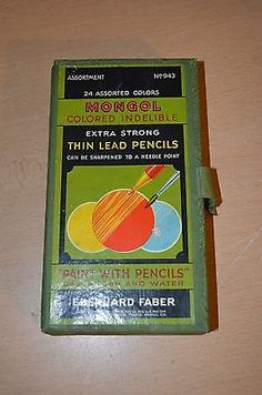 Eberhard-Faber-Vintage-Mongol-Paint-with-Pencils-set-943-24-Pencils
