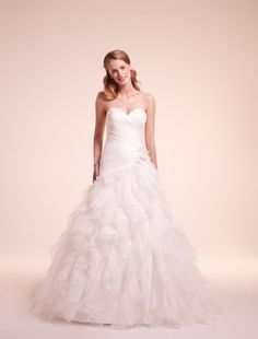 Sweetheart Princess/Ball Gown Wedding Dress  with Dropped Waist in Organza. Bridal Gown Style Number:32277568