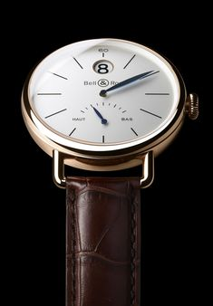 """Bell & Ross WW1 """"Heure Sautante"""" (jumping hour) with power reserve. Available for $18,995 on sale."""