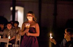 Candlelight wedding?? Have your bridesmaids carry candles instead of flowers!!