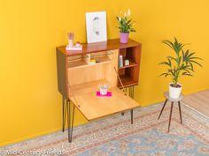 Vintage Möbel - Exklusiver Sekretär, Teak, 60er Sideboard Vintage - ein Designerstück von Mid-Century-Friends bei DaWanda