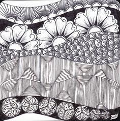 floral, new tangle, Alice Hendon, The Creator's Leaf, www.thecreatorsleaf.com